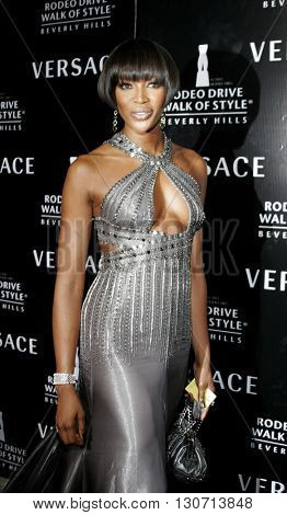 Naomi Campbell at the Rodeo Drive Walk Of Style Award honoring Gianni and Donatella Versace held at the Beverly Hills City Hall in Beverly Hills, USA on February 8, 2007.