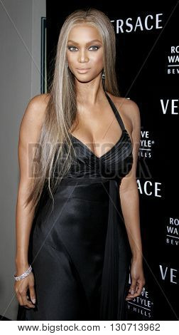 Tyra Banks at the Rodeo Drive Walk Of Style Award honoring Gianni and Donatella Versace held at the Beverly Hills City Hall in Beverly Hills, USA on February 8, 2007.