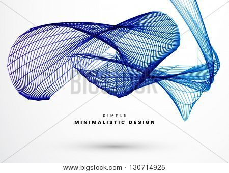 Abstract Background with Geometric Shapes and Lines. Connection Structure. Geometric Modern Technology Concept. Digital Data Visualization. Social Network Graphic Concept
