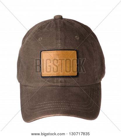 baseball cap isolated on white background .