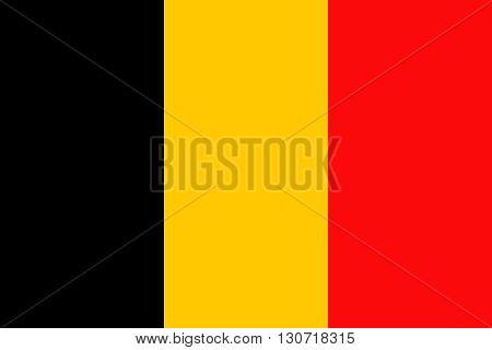 Flag of Belgium. Belgium flag vector illustration.