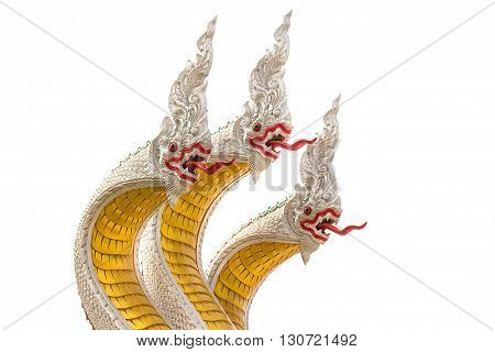 Naga statue statue with White background .