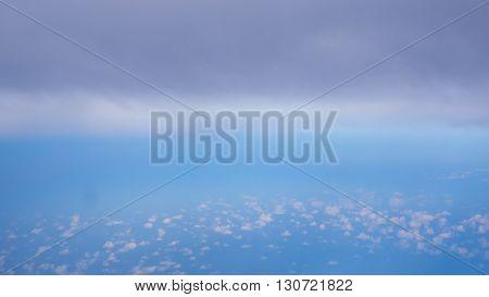 Nimbus cloud at the top and small cloud at the bottom