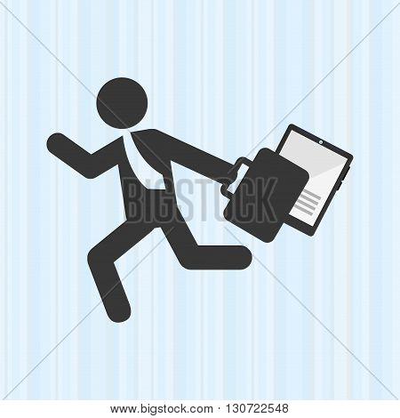 businessman running design, vector illustration eps10 graphic