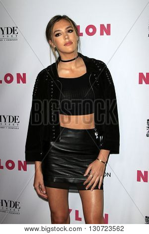 LOS ANGELES - MAY 12:  Sistine Stallone at the NYLON Young Hollywood May Issue Event at HYDE Sunset on May 12, 2016 in Los Angeles, CA