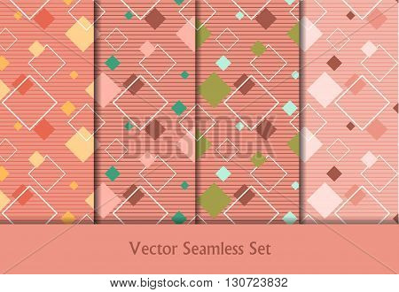 colorful vector seamless patterns set. Elements for your design. Eps10