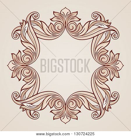 Abstract flowery pattern in pastel rose pink shades