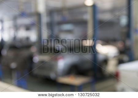 Car Garage, Blur Background
