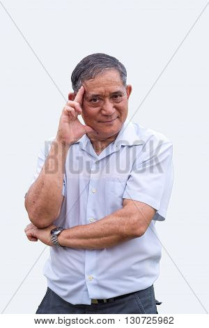 Asian Old Man Headache Action
