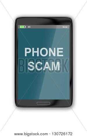 Phone Scam Concept