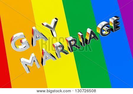 Gay Marriage Pride Concept