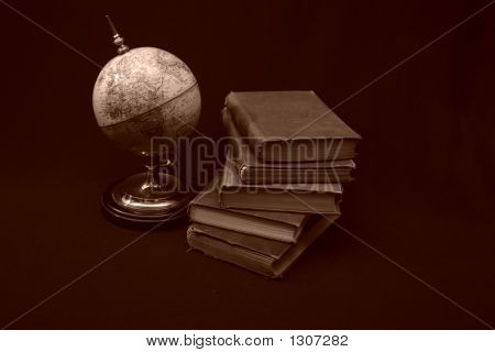 Books And Globes Vii
