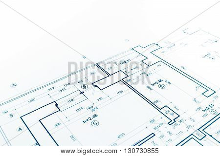 Floor Plan Blueprint, Blueprints Background, Architecture Drawing