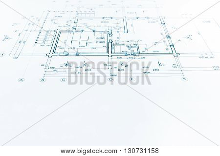 Architectural Project, Technical Drawing, Construction Plan Background