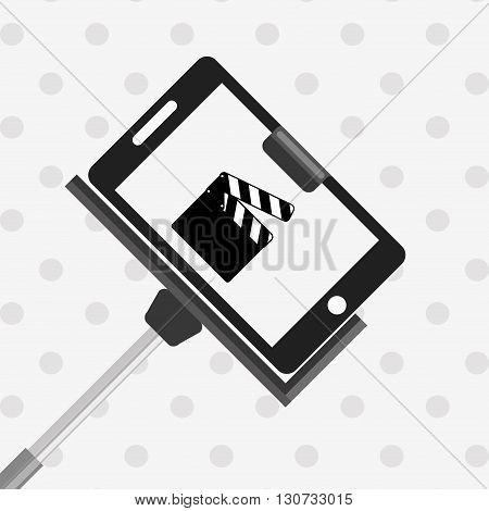 selfie with monopod design, vector illustration eps10 graphic