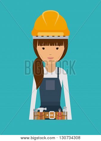 plumber woman design, vector illustration eps10 graphic