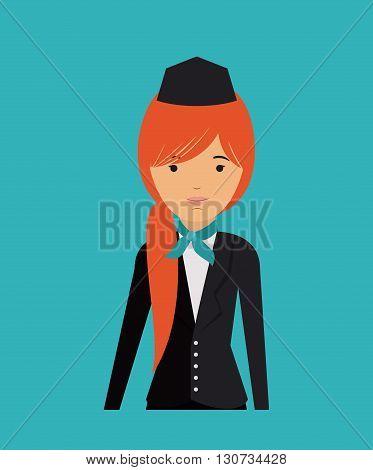 flight attendant design, vector illustration eps10 graphic