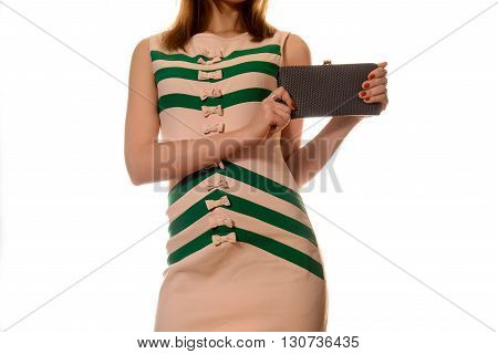 The Fashionable Young Woman In Striped