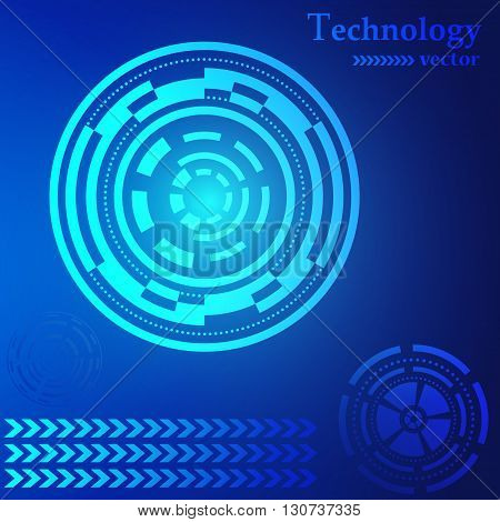 Futuristic User Menu Interface Hud. Abstract Technology Background