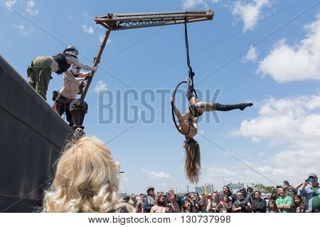 Acrobatic Girl Performing
