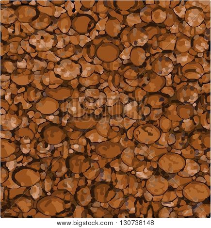 abstract background made with mixed orange brown shapes