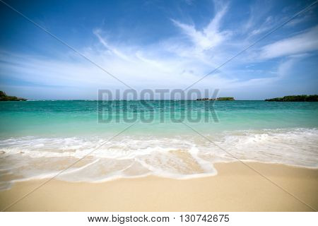 Untouched tropical beach at Bali