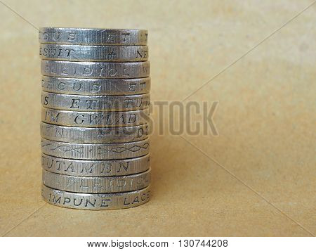 Pound Coins Pile