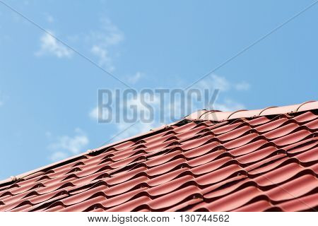 Roof Covered With Metal Tile