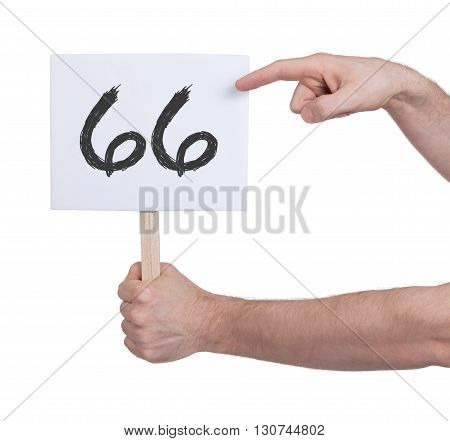 Sign With A Number, 66