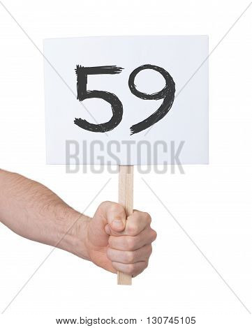 Sign With A Number, 59