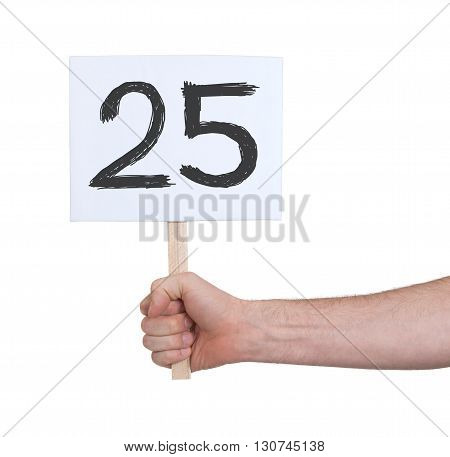 Sign With A Number, 25