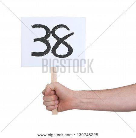 Sign With A Number, 38