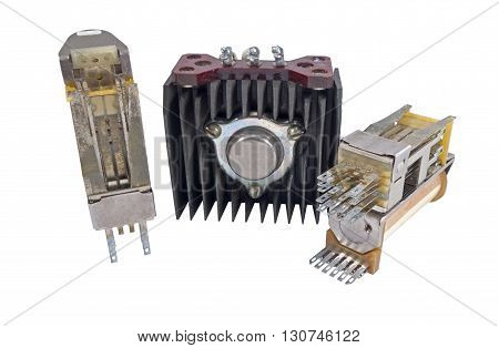 the Radio components on a white background