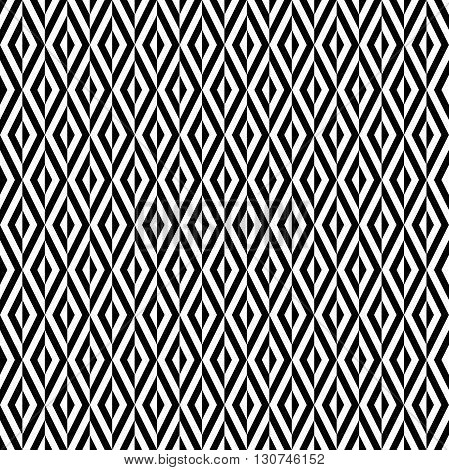 Seamless geometric black and white pattern by stripes. Modern vector background with repeating lines. Seamless geometric background