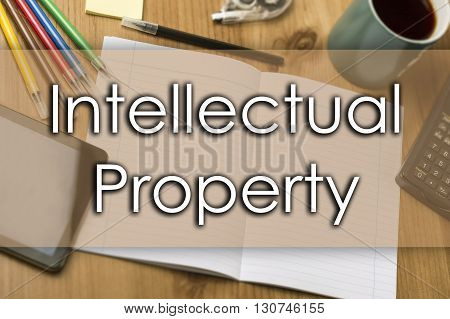 Intellectual Property - Business Concept With Text