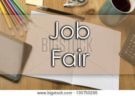 Job Fair - Business Concept With Text