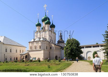Rostov, Russia - June 3: This is the church of St. John the Theologian in the Rostov Kremlin June 3, 2013 in Rostov, Russia.