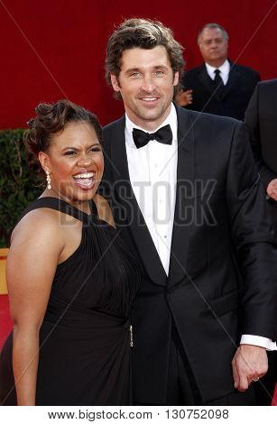 Chandra Wilson and Patrick Dempsey at the 60th Primetime Emmy Awards held at the Nokia Theater in Los Angeles, USA on September 21, 2008.