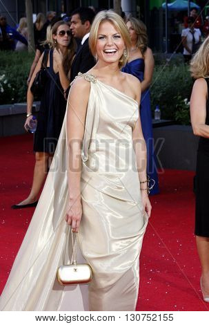 Jennifer Morrison at the 60th Primetime Emmy Awards held at the Nokia Theater in Los Angeles, USA on September 21, 2008.