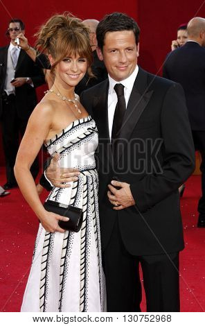 Ross McCall and Jennifer Love Hewitt at the 60th Primetime Emmy Awards held at the Nokia Theater in Los Angeles, USA on September 21, 2008.