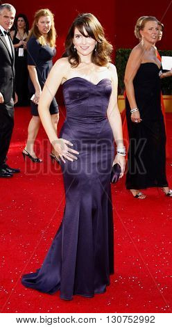 Tina Fey at the 60th Primetime Emmy Awards held at the Nokia Theater in Los Angeles, USA on September 21, 2008.