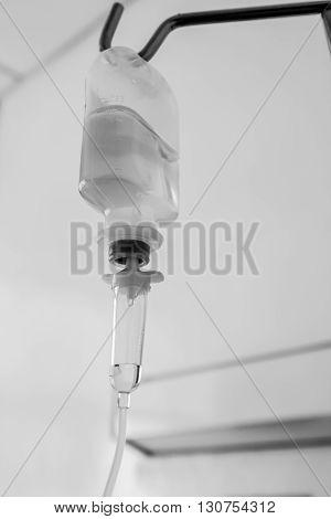 Medical Drip Macro. Concept Of Treatment