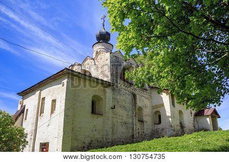 Kirilov, Russia - May 28: The Kirillo-Belozersky Monastery,  the church of St. Sergius of Radonezh May 28, 2013 in Kirillov, Russia.