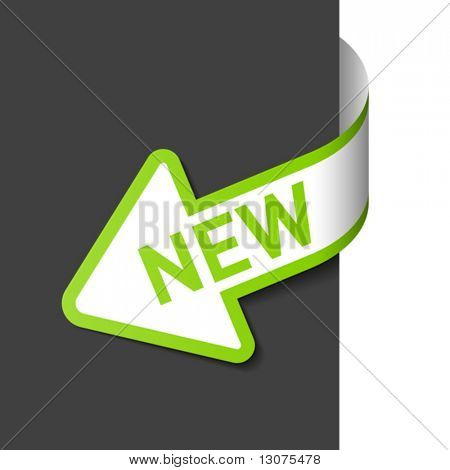 Sign New on the arrow. Easy editable vector.