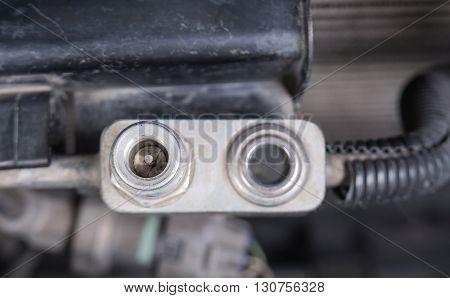 Car refrigerant valveCheck refrigerant carAir Car Check.