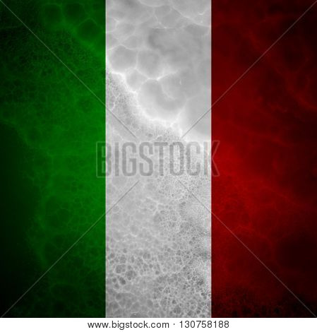 Flag of Italy. Amazing stone texture with coloration.