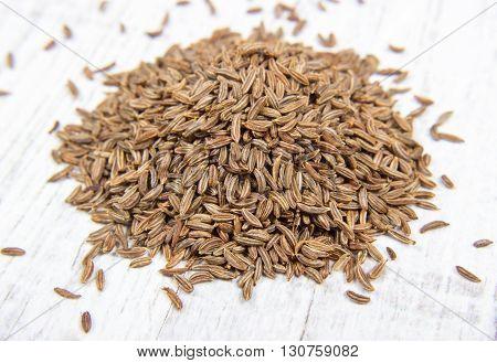 Close up of cumin seeds- spice. Macro.