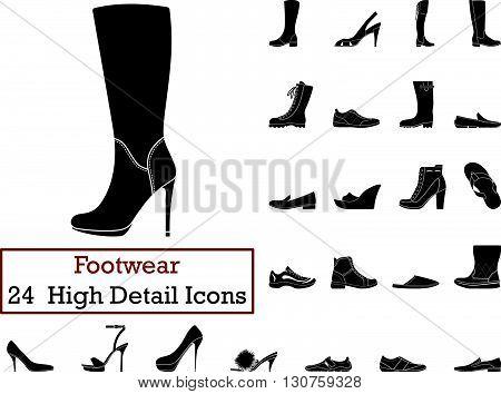 Set Of 24 Footwearicons