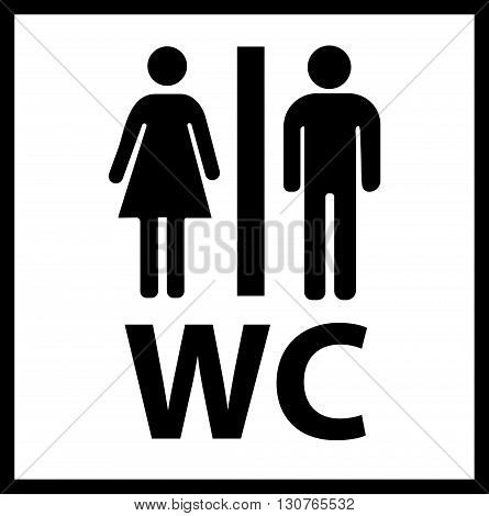 WC Icon. WC Icon Vector. WC Icon eps. WC Icon Image. WC icon simple.