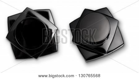 Stacked Cosmetic Products With Clipping Path